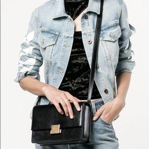 SAINT LAURENT YSL Black Bellechasse Bag Purse